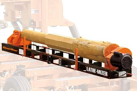 Lathe-Mizer® Log Lathe Attachment