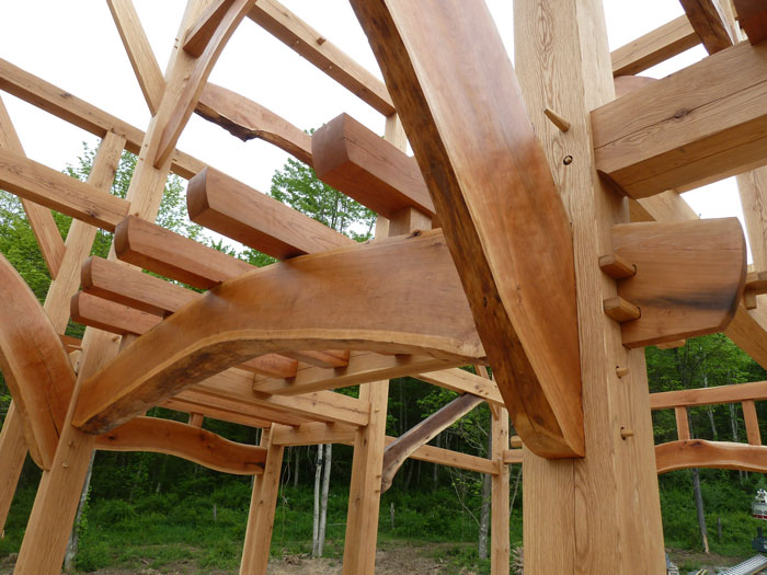 Building a timber frame business with a portable sawmill for Building a timber frame house